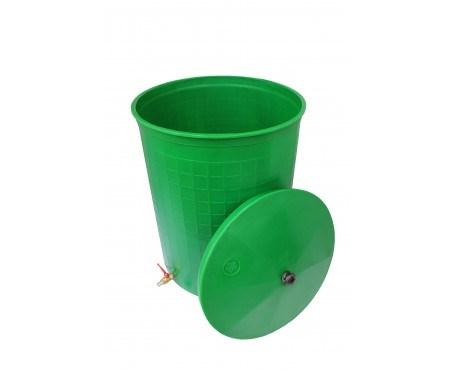 """Бочка пластиковая 300 литров для воды и полива с краном 3/4"""" крышкой"""